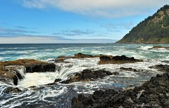 Cape Perpetua in Oregon Coast (goodhike) Tags: cape perpetua capeperpetua pacific ocean pacificocean lincoln county lincolncounty siuslaw national forest siuslawnationalforest nationalforest sea seashore outdoor or oregon yachats thors well thorswell