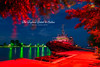 the tug (Bazalai) Tags: blue red night river landscape nightscape romania tugboat bluehour tug danube sulina easternmost danubedelta mariusvasiliu terradesign bazalai