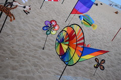 Kites, flags and pinwheels (hansntareen) Tags: summer vacation color tourism beach coast town rainbow fishing sand village provincetown capecod scenic landmark flags wharf kits serene pinwheel breeze iconic ptown