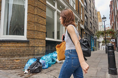 20150823-10-14-07-DSC06155 (fitzrovialitter) Tags: street urban london girl westminster trash garbage fitzrovia camden soho streetphotography litter bloomsbury rubbish environment mayfair westend flytipping dumping marylebone captureone peterfoster fitzrovialitter