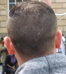 Gelled over top (GusRoman) Tags: haircut bald barbershop crop barber hnt buzzed crewcut burr gel nape wahl