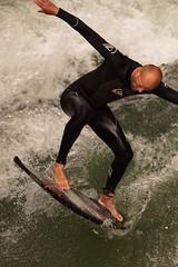 munich (cosmoflash) Tags: vacation ice water munich mnchen stream wasser surf urlaub wave surfing bach riding welle surfen eisbach