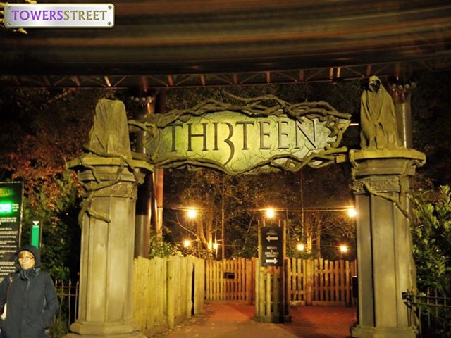 The Thirteen entrance at Scarefest