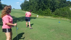 Golfing at the Humane Society fundraiser
