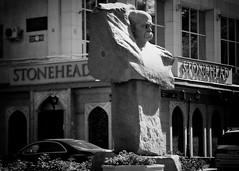 Yes, it is (monorail_kz) Tags: street monument zeiss zebra jupiter kazakhstan signboard almaty stonehead taras sonnar shevchenko