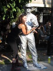 happy girl and silvery guy (helena.e) Tags: gteborg gothenburg helenae