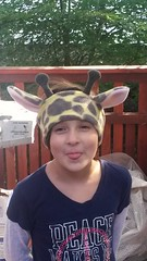 Giraffe earwarmer (c_cruver) Tags: hat handmade homemade fabric giraffe earmuffs fleece headband earwarmers