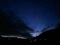 Anochecer (Chrystian G.) Tags: blue sky azul night clouds stars back photos olympus colores follow cielo nubes estrellas montaa samples favoritos tus anochecer nightfall oscuridad oscuro oscure favorito agregala followback vg160 siguemeytesigo favoriteame