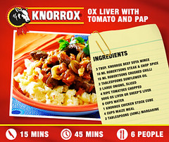 Ox Liver with Tomato and Pap (KnorroxSA) Tags: chickencube stewrecipe knorroxstockcubes