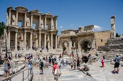 Ephesus - Library of Celsus & Mazeus And Mithridates Gate to Agora (Le Monde1) Tags: city turkey greek nikon gate roman unesco worldheritagesite classical agora selcuk ephesus izmir asiaminor libraryofcelsus d7000 lemonde1 mazeusandmithridates