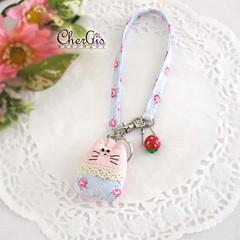Kitty Plushie keychain (CherGis Handmade) Tags: cute keychain kitty plushie strap wristlet bagcharm bagdecor