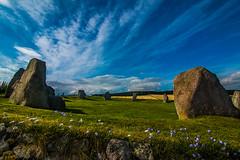 Stone Circle II (Matthias-Hillen) Tags: flowers blue sky green rock stone clouds circle easter landscape scotland highlands aberdeenshire united himmel wolken kingdom blumen highland grn landschaft stein blauer schottland felsen inverurie aquhorthies steinkreis grosbritanien