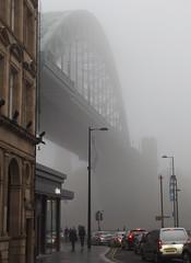 Newcastle  (Explore 12/11/15) (only lines) Tags: street uk bridge fog newcastle tynebridge