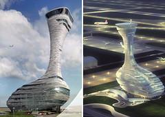 Прект диспетчерской башни аэропорта Стамбула от RMJM Architects