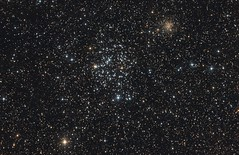 Messier 35 and NGC 2158 (jschr338) Tags: canon stars space cluster ngc astrophotography astronomy messier universe xsi 800mm m35 newtonian baader mpcc 450d ngc2158 lmissouri