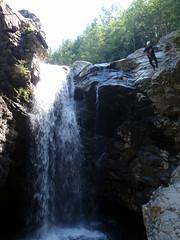 Lost Creek Falls (Dru!) Tags: canada waterfall jump bc britishcolumbia dive canyon falls granite mission leap wetsuit plunge stavelake lostcreek hatzic canyoneering