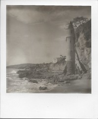 (Hayley Hecht) Tags: polaroid impossible project bw victoria beach laguna