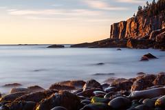 BOULDERS & CLIFFS (pidalaphoto) Tags: autumn october boulderbeach atlanticocean cliffs acadianationalpark sunrise oceandrive coast maine boulders ottercliff
