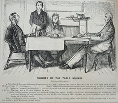 Knights of the Square Table! -  Punch 1873 (AndyBrii) Tags: punch 1873 wit satire woodcuts engravings