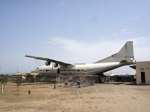 Massawa , Eritrea Remains of an Antonov Aeroflot An-10A