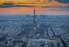 View from Montparnasse (aurlien.leroch) Tags: france europe paris toureiffel sunset eiffeltower montparnasse nikon d7100 cityscape architecture