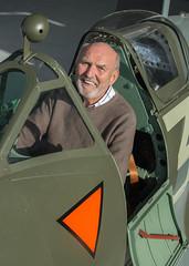 Me in Cockpit of Supermarine Spitfire LF Mk XVIE, RW382, Heritage Hangar, Biggin Hill (Peter Cook UK) Tags: supermarine rw382 e heritage lf xvie xvi biggin spitfire hill 2016 kent mk hangar