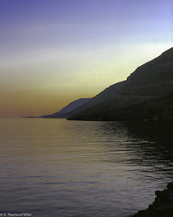 Sunset Over Hora Skafia (FilmstripLeads) Tags: greece 4x5 fuji fujifilm velvia 100 slide transparency positive e6 film large format toyo cf45 field view camera schneider lens crete island water color landscape epson v700