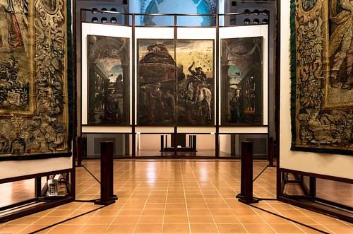 314/366 - 9 novembre 2016 - Forse é il dipinto che più identifica Cosmé Tura. Si tratta della decorazione delle ante dell'organo della Cattedrale. I pannelli erano dipinti sui due lati: a ante chiuse la scena visibile era quella di San Giorgio e la princi