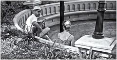 Soft Melody, Soft Focus!!! (Samy Collazo) Tags: leicalllf1953 elmar50mmf351953 kodaktrix400 streetphotography fotografiacallejera sanjuan oldsanjuan viejosanjuan puertorico epsonperfectionv500scanner niksilverefexpro2 aviary bn bw plazacolon guitara guitar musico musician musicocallejero streetmusician