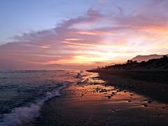 Reflejos en la orilla (Antonio Chacon) Tags: andalucia atardecer marbella mlaga mar mediterrneo spain sunset espaa