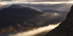 The Wisps of Canisp (J McSporran) Tags: scotland highlands westhighlands northwesthighlands suilven canisp morningmist mountains mountain mountainside sunbeams landscape canon6d