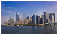New York City Scape (Shan | Capture Machine) Tags: newyork manhattan downtown newyorkcity cityscape fromstatenisland usa ny nyc unitedstatesofamerica shanmuganathanphotography shan capturemachine canon canon600d canon1855mm sky skyline city blue bluesky clearsky sunnyday september2016