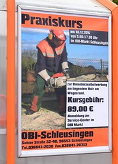 Take a class in Brennholzselbstwerbung! - A word, I have really never read!!! - A literal translation: firewood self-advertising!!!;) (:Linda:) Tags: germany thuringia ad funnylanguage man working schleusingen