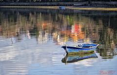 Reflejos (cazador2013) Tags: bote chalana barco mar reflejos
