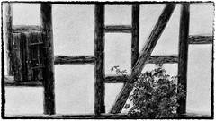 skeleton framing (tomsyrk) Tags: skeletonframing fachwerk halftimber timber truss architektur architecture landscape landschaft bauwerke alt schwarzweiss blackandwhite blackwhite blacknwhite black bw bwd bnw blancoynegro noiretblanc noireblanc konstruktion construction engeneering texture frames frame framing old house haus wand mono monochrome monochrom building franken deutschland frankonia germany liines geometry outdoor abstrakt einfarbig fotorahmen