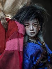 Nandi grey skin with faceup (eviexm) Tags: nandi eviessanctum bjd bjdhead artistdoll artistbjd