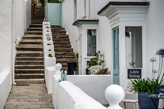 St Mawes retreat (Jae at Wits End) Tags: stairs architecture cottage color white flight staircase steps treads