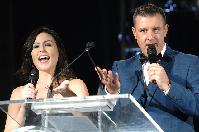 Scott Fox and Kat Callaghan of Z103.5 at the Top Choice Awards 2016