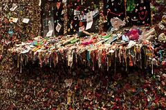 Pike Place Market gum wall in alley (Jim Corwin's PhotoStream) Tags: markettheatre nw northamerica pacificnorthwest pikeplacemarket seattle abundance alley architecture arrangements attractions bubblegum building candy chewinggum covered creativity day daytime destinations display downtown facade fad food fresh fun funny gum gumwall horizontal humor humorous individuality landmark local market merchant multicolored nobody northwest openairmarket outdoors pattern patterns penairmarket photographing photography placestosee publicart sideofbuilding sightseeing sticky strange stuck sweets takingpics tourism tourists travel trend unique urbanscene variation variety wall weird window windowsill