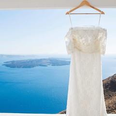 "Beautiful #photo from #bride preparation in magical #Santorini. #Wedding planning by ""Wedding in Greece"". Photos by highly skilled #photographer @elenidona   www.elenidona.com #love #weddingdress #weddingingreece #santoriniwedding"
