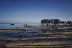 We are home (Syahrel Azha Hashim) Tags: horizon sony clearsky fishingvillage holiday simple housesonstilts beach sandybeach dramaticsky tropicalisland semporna sabah boat islands lowtide sonya7 dof shadow sunny houses a7ii ilce7m2 clouds coconuttrees humaninterest handheld 35mm colorimage vacation residential prime light bluesky naturallight 2016 colorful getaway malaysia travel syahrel denawanisland shallow local island details ocean tropical detail