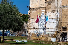 PA126481 Italy Sicily Palermo (Dave Curtis) Tags: 2013 em5 europe italy omd olympus palermo sicily grafitti wall religious