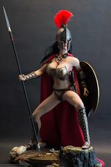 This! Is! SPARTA!!! (edwicks_toybox) Tags: 16scale 300 ancientgreece brunette femaleactionfigure helmet phicen seamlessbody shield spartawarrior spartan spear sword