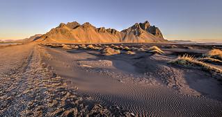 Black Sand ripples and Vestrahorn