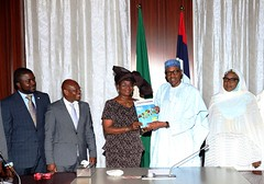 PRESIDENT BUHARI RECEIVES EXECUTIVE SEC OF GULF OF GUINEA