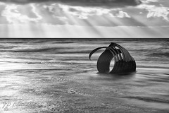 The Shell (Jason Connolly) Tags: marysshell cleveleys cleveleysbeach mono monochromatic moodylandscape lee 10stopper lee10stopper