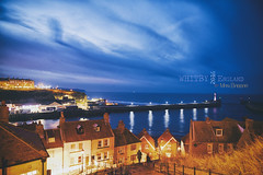 Whitby Lighthouse (~FreeBirD~) Tags: lighthouse whitby explored explore light playoflight dark winter cold windy 100stairs whitbyabbey whitbytown pier town stairs abbey classic touristdestination nature wonders beautiful touristic attractions england uk country manibabbar nikon d810 vivid lights