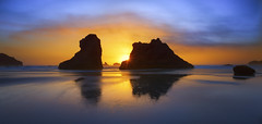 Sunset Colors at the Ocean (Bandon, OR) (Sveta Imnadze) Tags: nature seascape pacificocean oregon oregoncoast bandon beach rocks colors