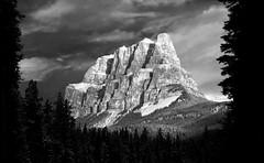 The Castle (Christian Nesset) Tags: castle mountain alberta canada banff national park blackandwhite johnstoncanyon nikon landscape nikond800