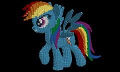 Rainbow Dash WIP 8 (technoandrew) Tags: lego rainbow dash my little pony mlp friendship is magic mlpfim brony pegasus cartoon character ldd digital design cad model sculpture wings tail mane blue